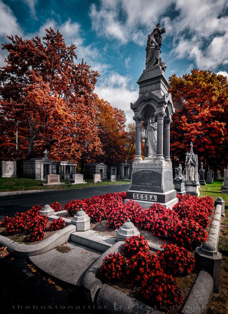 St. Michael Cemetery, Boston by Thomas Logan