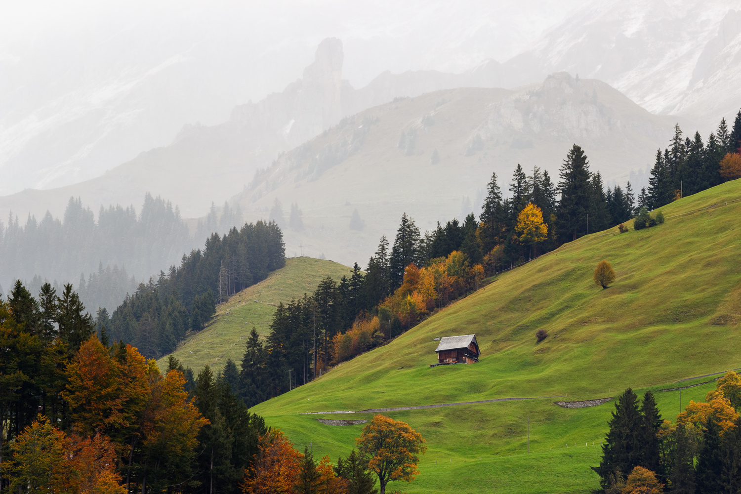 The Hut on the mountain side by Jagmeet Sanga