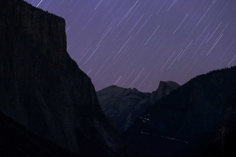 Star Trails & Car Trails @ Yosemite by Dylan Bishop