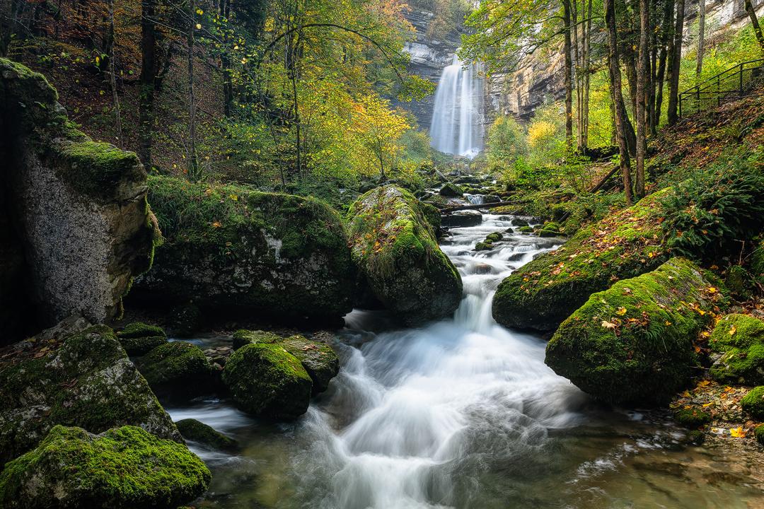 Hérisson waterfall by Nicolas Logerot