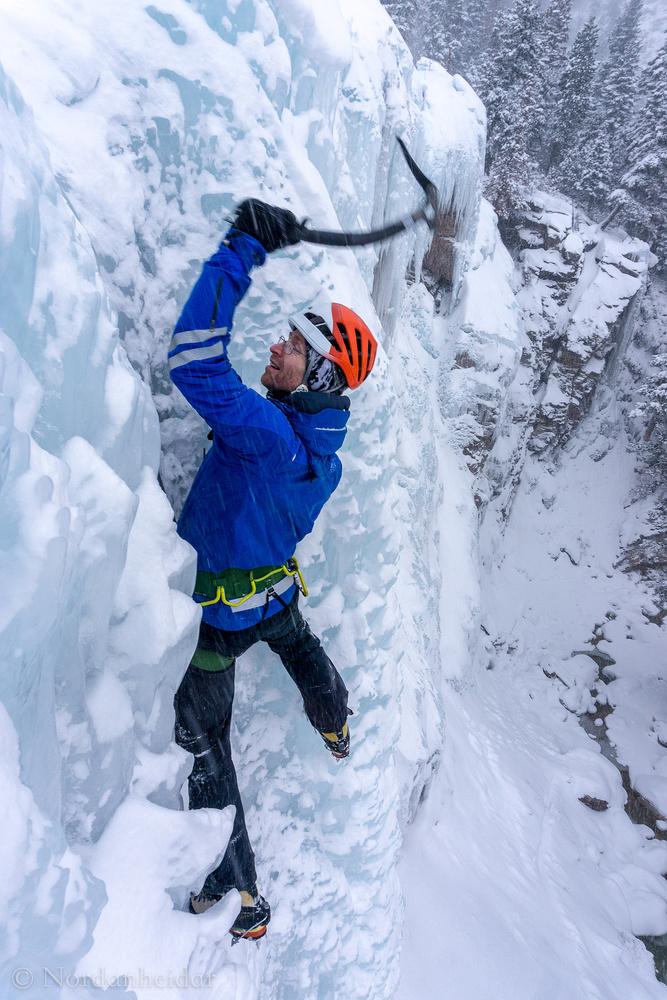Ourray Ice climbing by Jon Heidar Runarsson