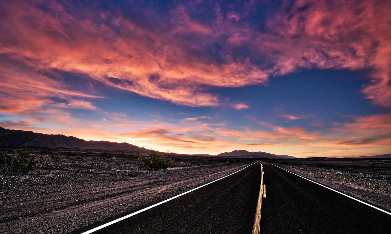 Death Valley Highway by Daniel Wishard