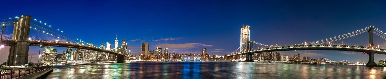 Manhattan & Brooklyn Bridges by Daniel Wishard