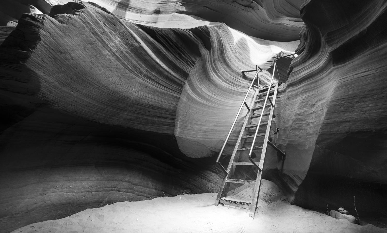 Lower Antelope Canyon Stairs by Daniel Wishard