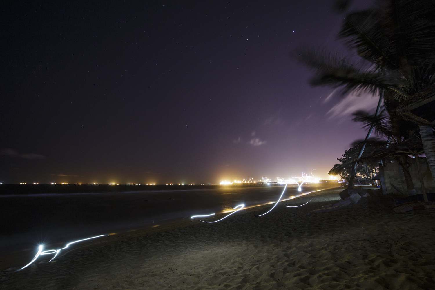 Coco Beach at night by Felix Müller