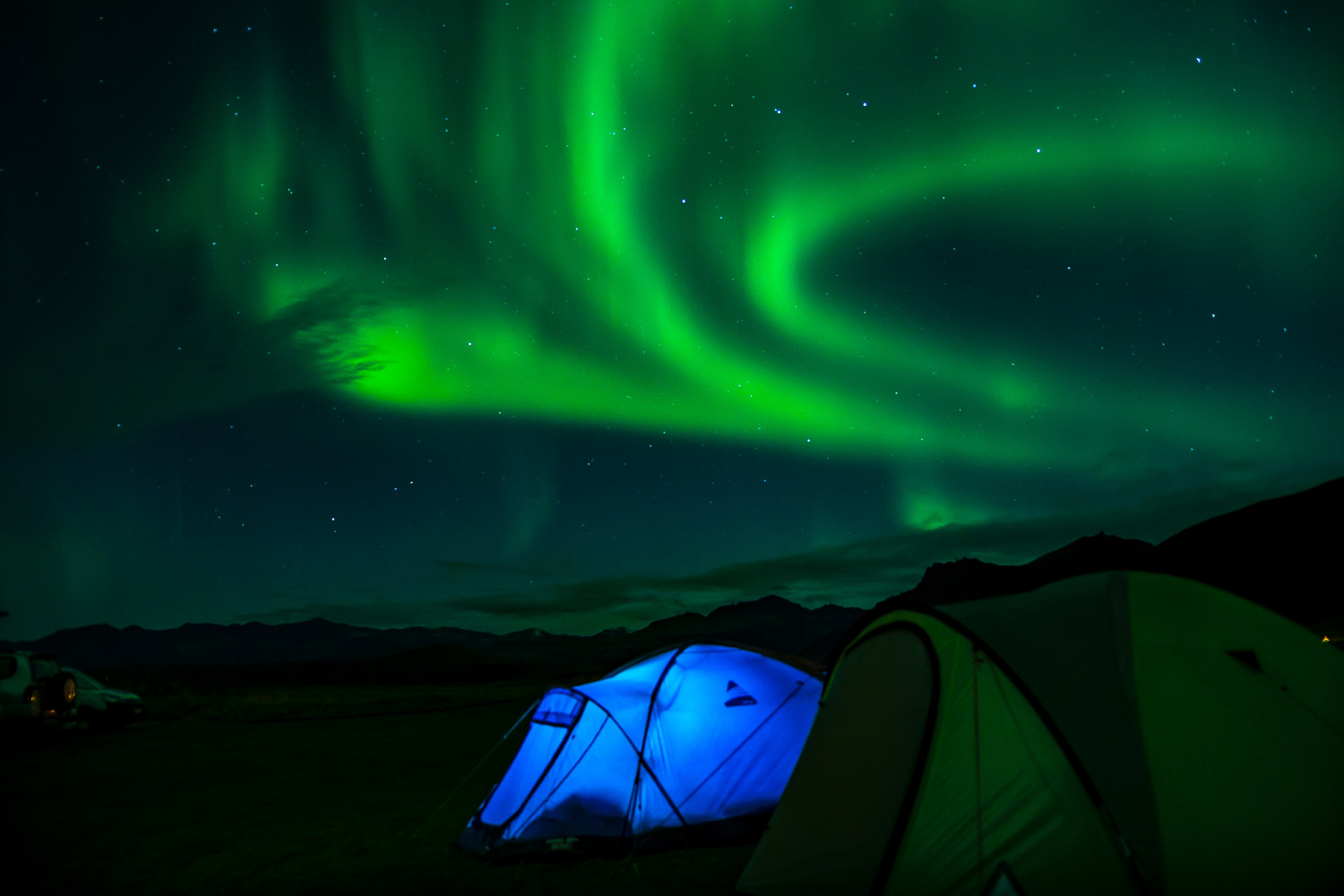 Camping under Northern Lights in Iceland by Boopathi Rajaa