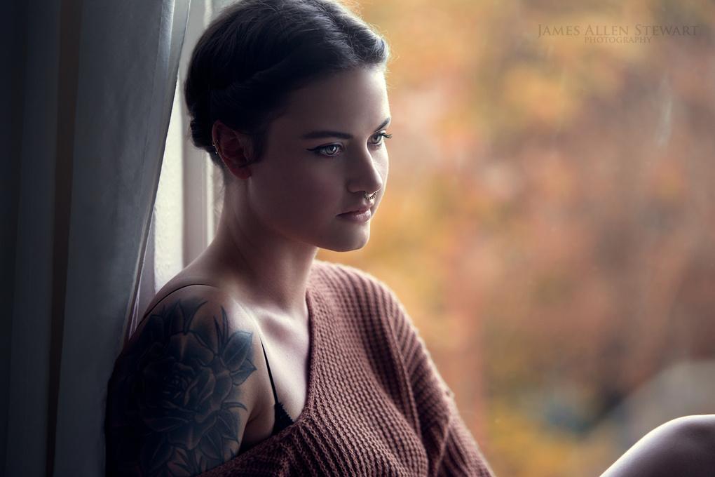 At The Window by James Allen Stewart