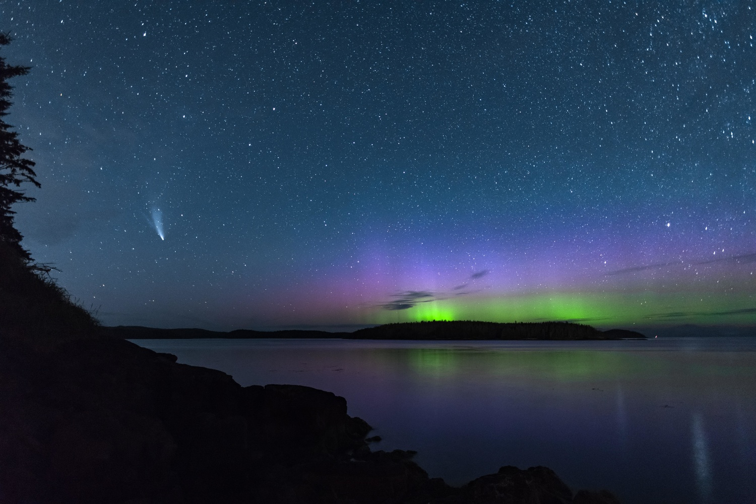 Aurora and Neowise by Bodkin's Best Photography