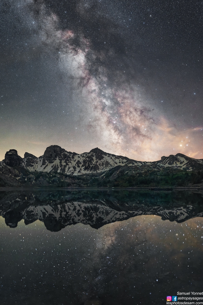 Allos lake by Samuel Yonnet