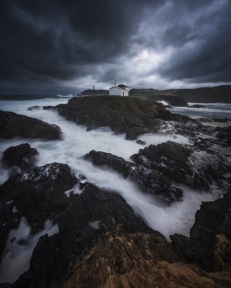 Chapel into the storm by Luis Cajete