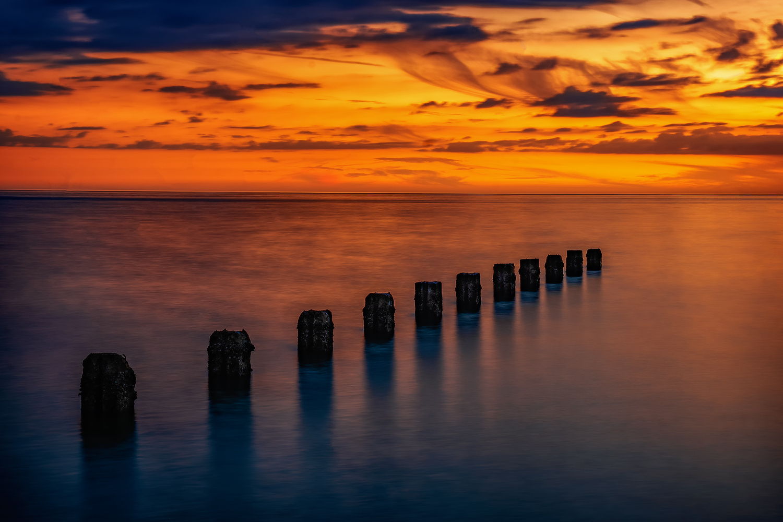 Clear Water beach Sunset by Mohan Krishna