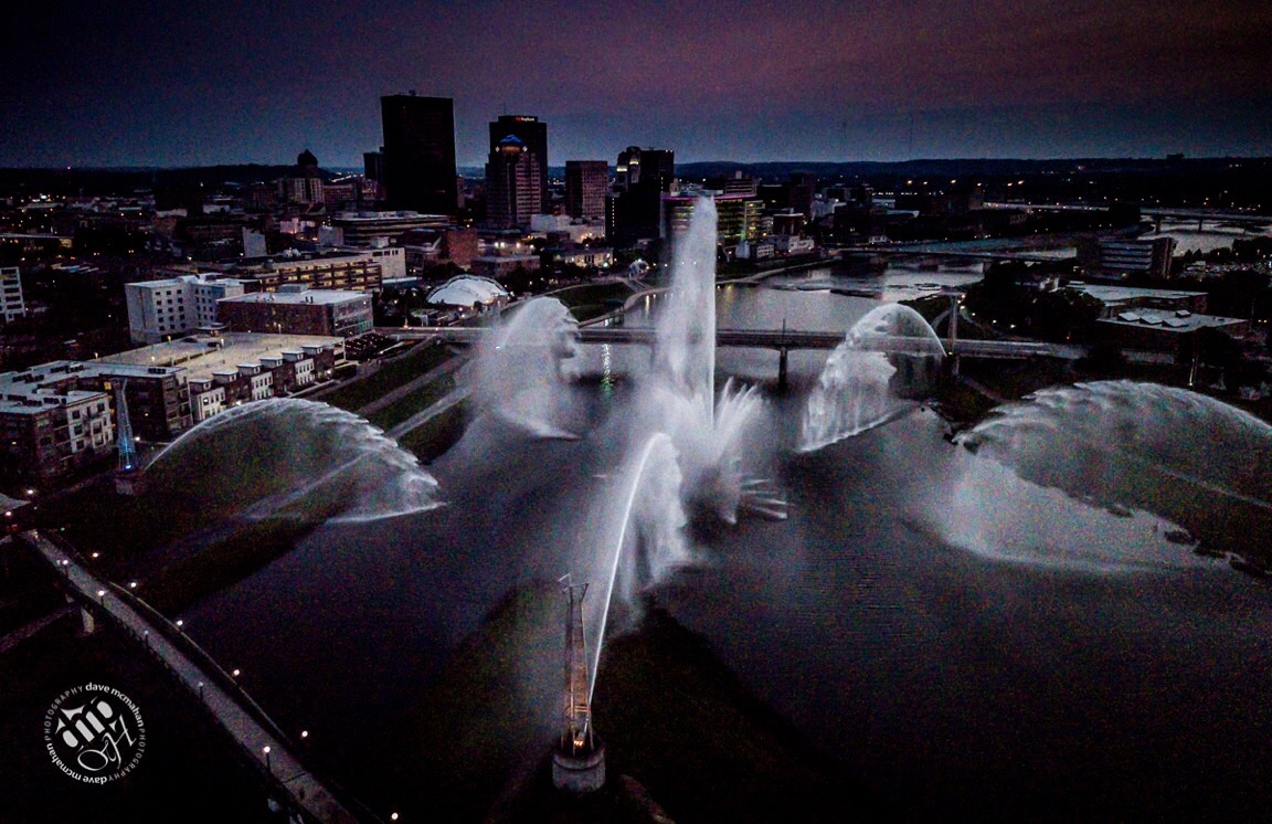 Riverscape - Dayton Ohio by Dave McMahan