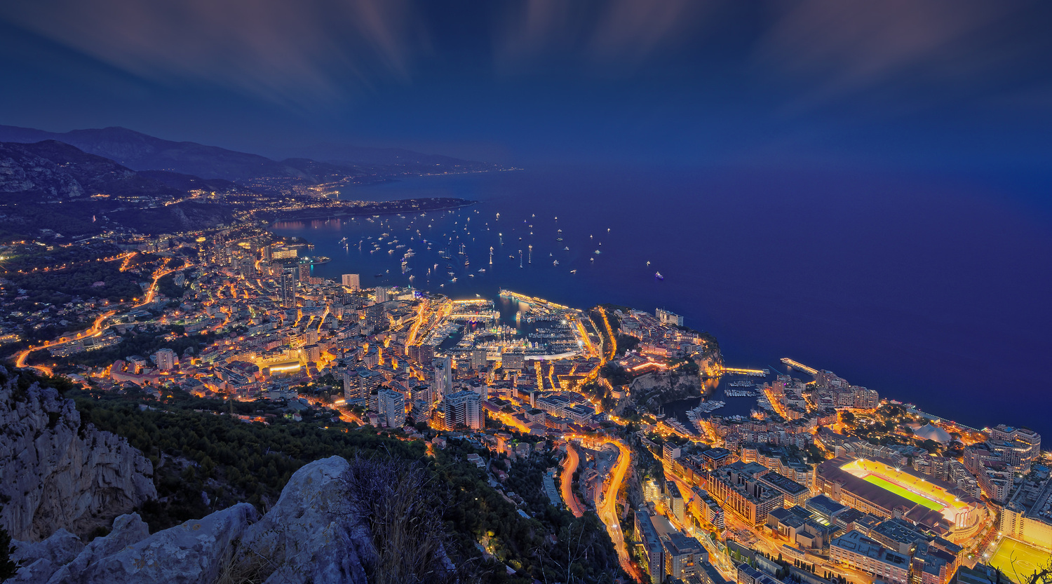 Monaco - Blue hour by Alex Lud