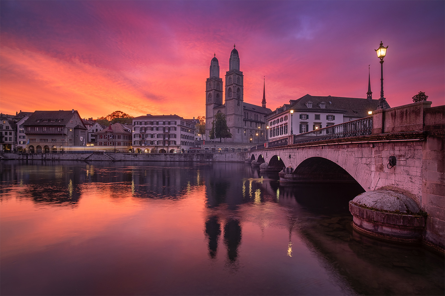 Grossmünster church, Zurich by Anton Galitch