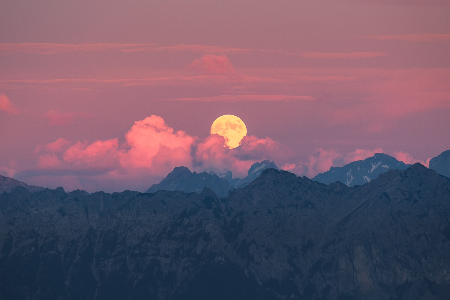 Moonrise in the Appenzell Alps by Anton Galitch