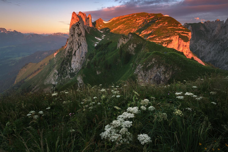 Alpine sunrise by Anton Galitch