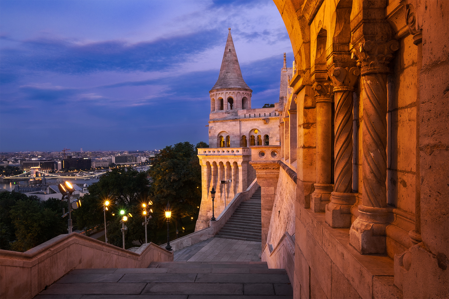 Fishermans Bastion at Blue Hour by Anton Galitch