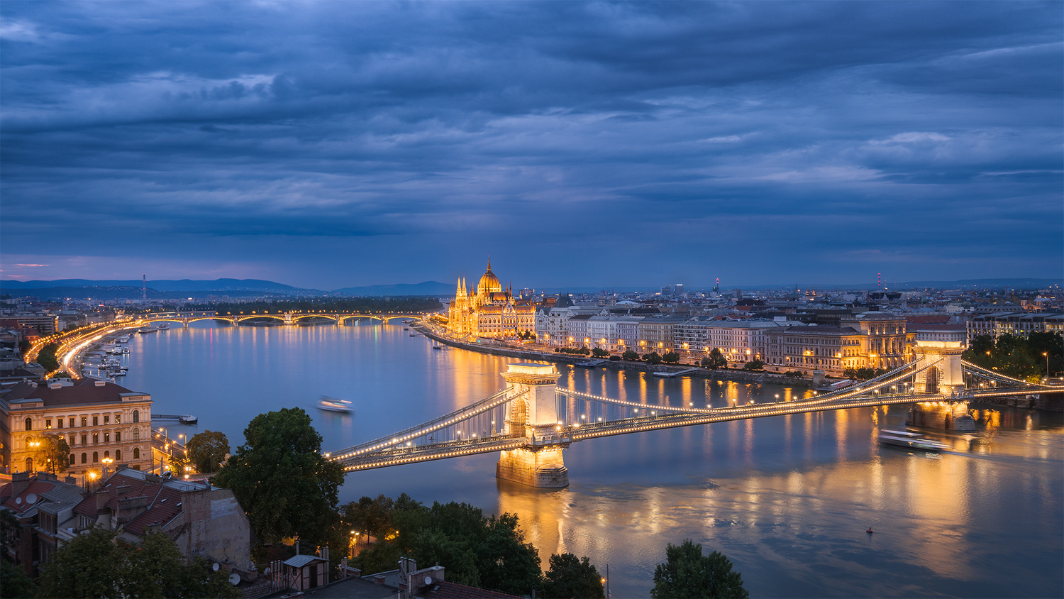 Budapest Blue Hour by Anton Galitch