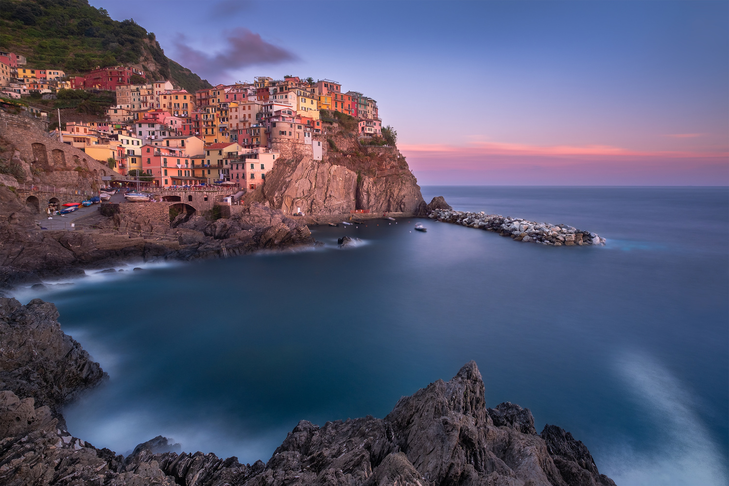 Sunset in Manarola by Anton Galitch
