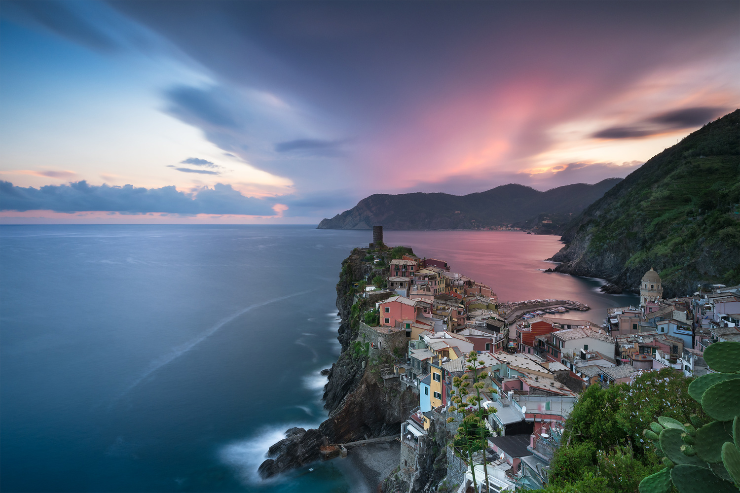 Sunset in Vernazza by Anton Galitch