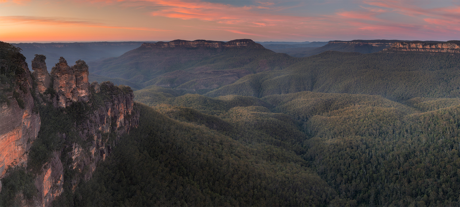 Panorama of the Blue Mountains, Australia by Anton Galitch