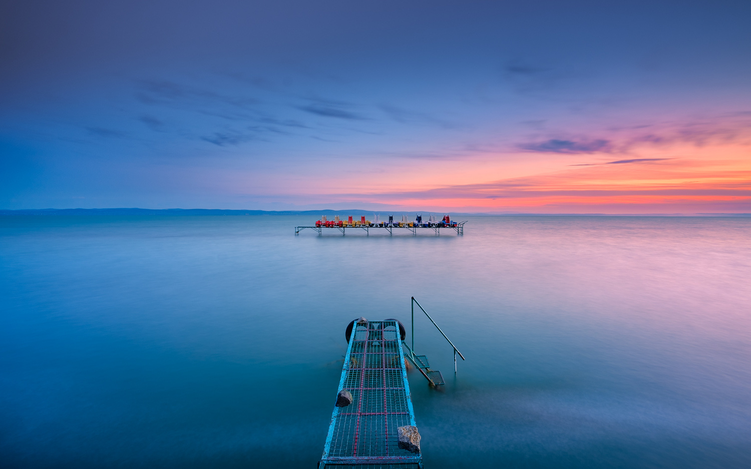 Balaton Lake dawn by Anton Galitch