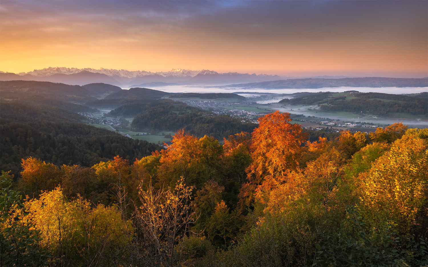 Autumn sunrise by Anton Galitch