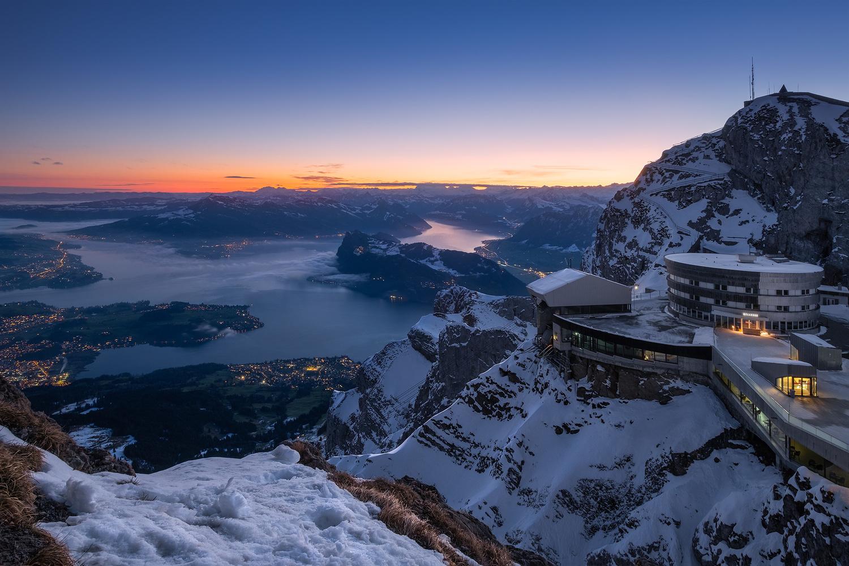 Dawn over Lake Lucerne by Anton Galitch