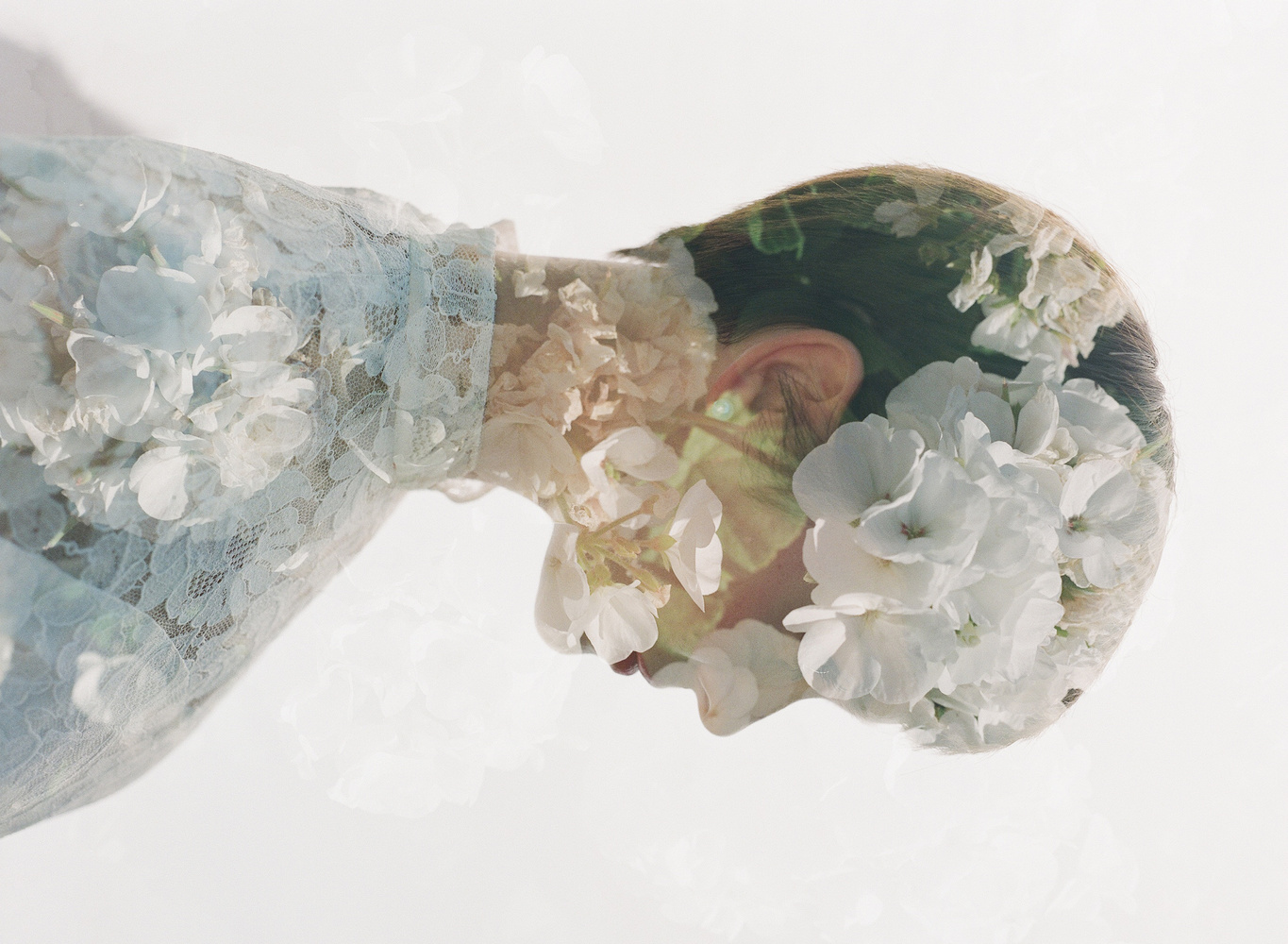 Bridal double exposure on film by Samuel Hodges