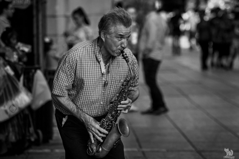 Music on the street... by Eleazar Blackfox
