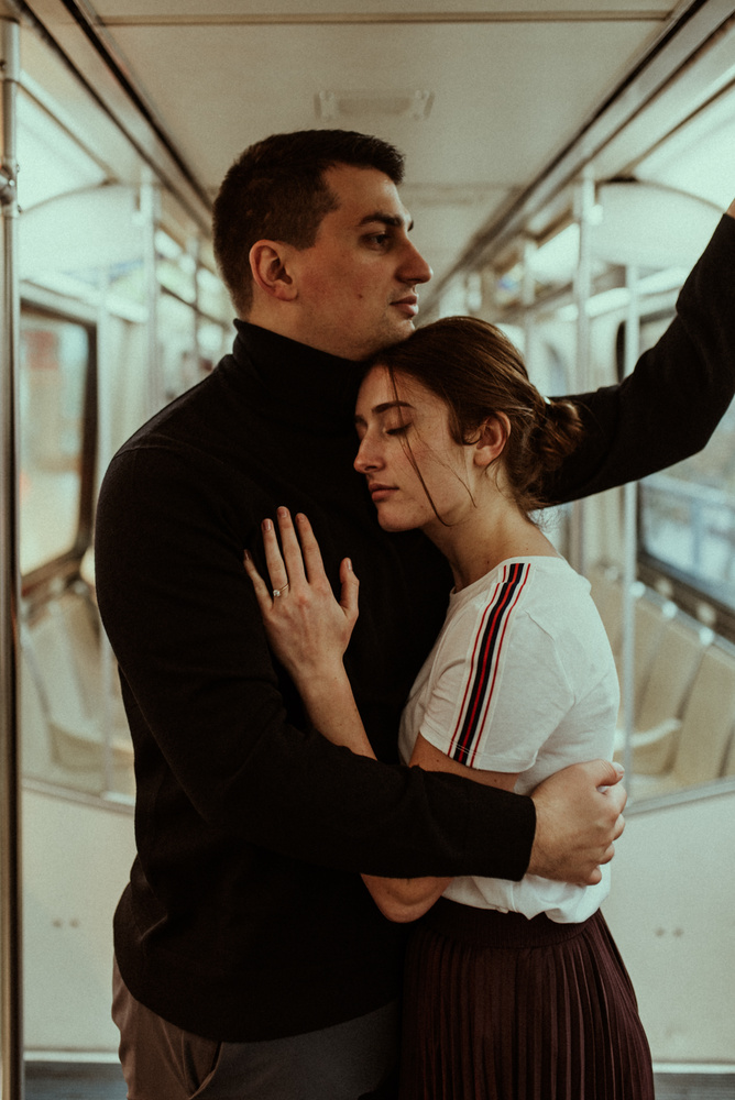 French New Wave Engagement Shoot by Landon Lacey