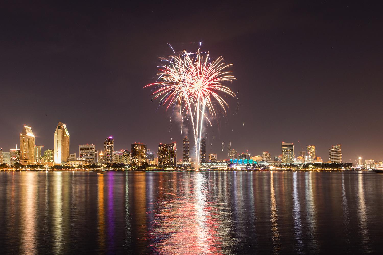 San Diego Fireworks by Joshua Krause