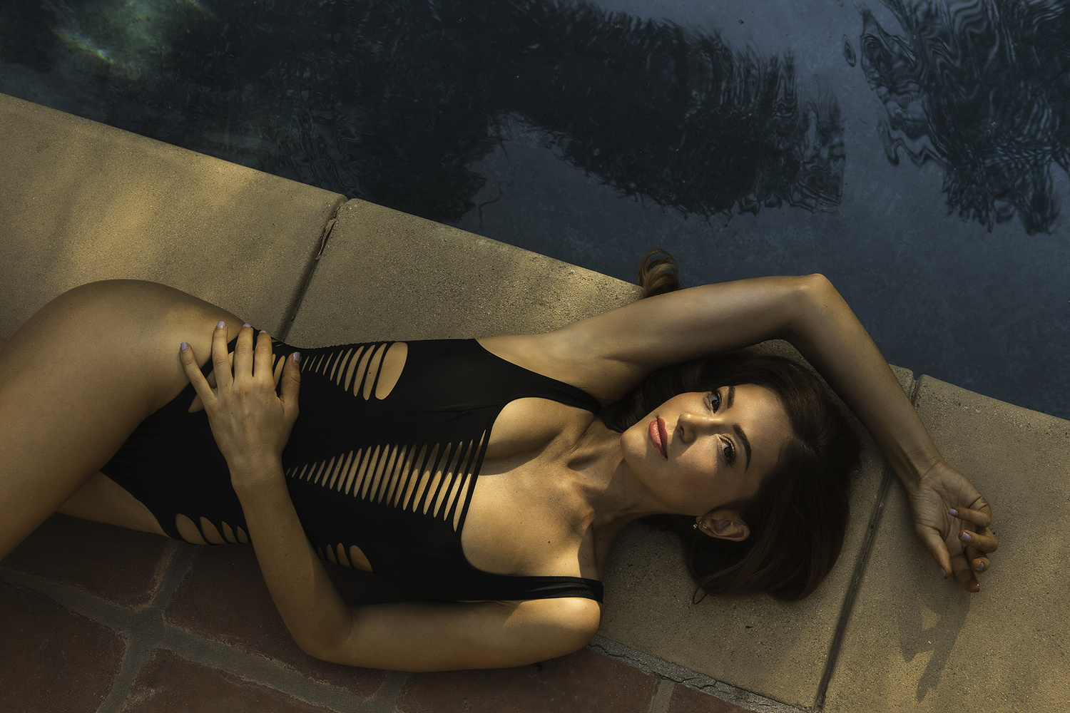 Poolside Lounging by Joshua Krause