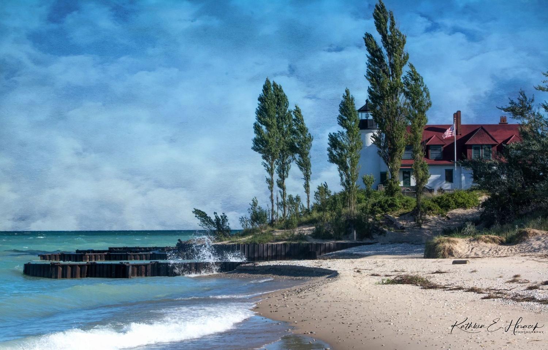 Point Betsie Lighthouse by Kathleen Horacek