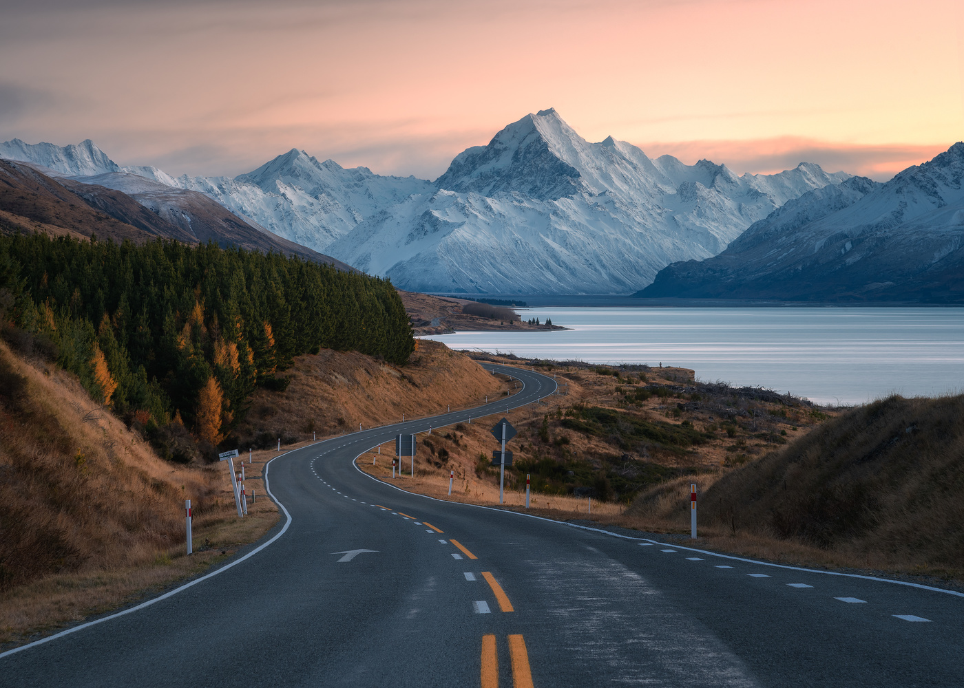 Highway 80, New Zealand by Chris Wain
