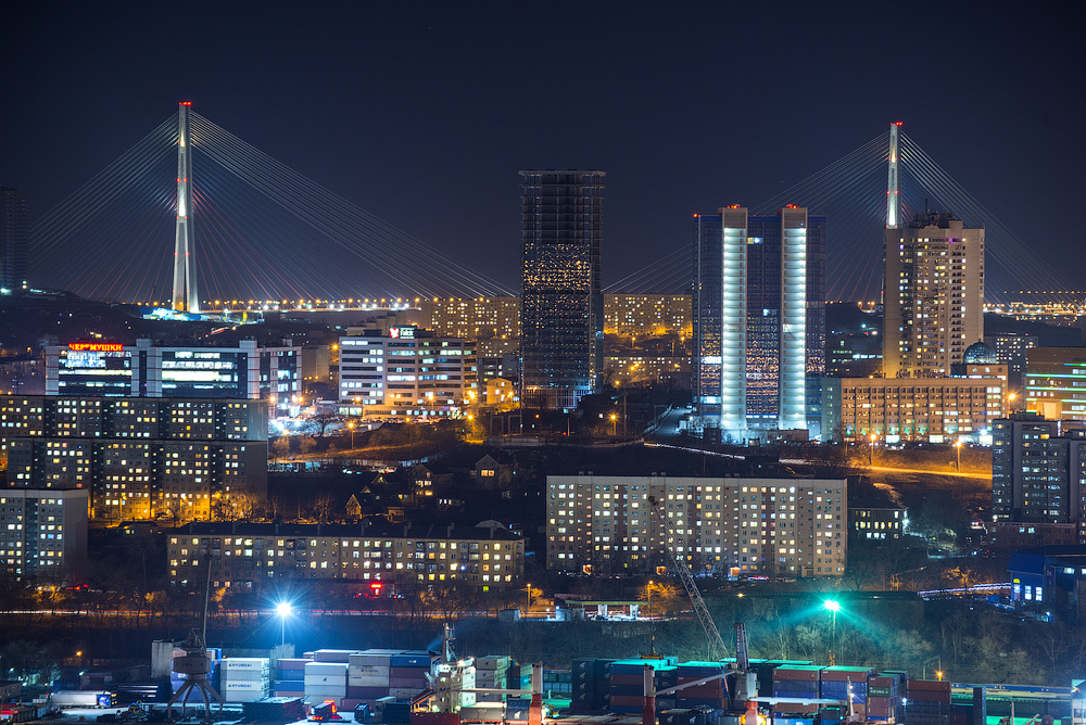 Midnight cityscape by Dmitry A