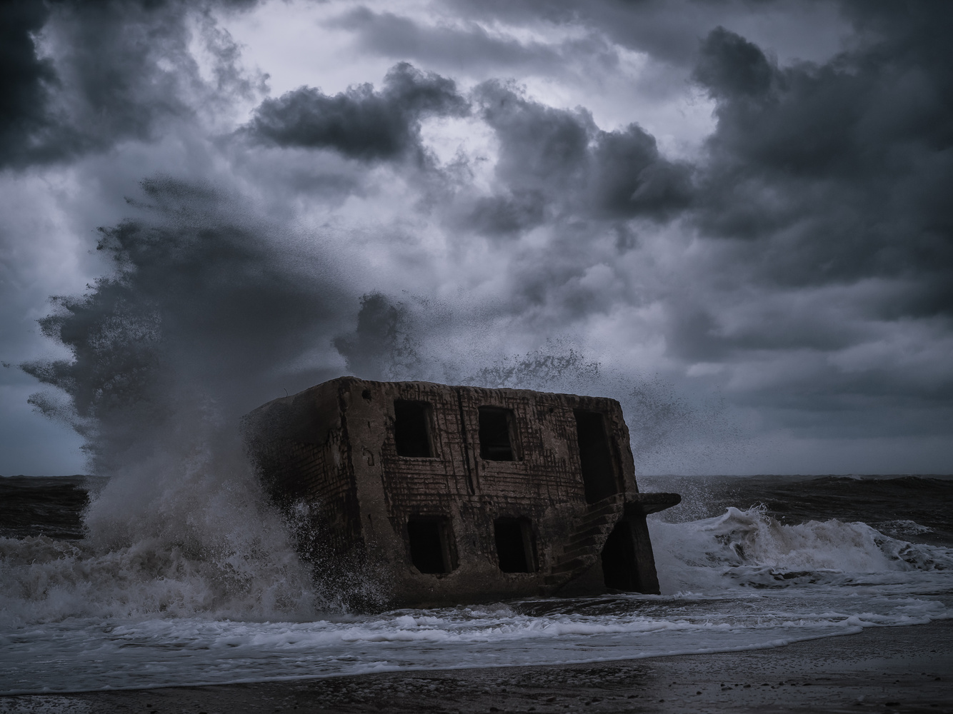Claimed by the sea by Marina Khaustova