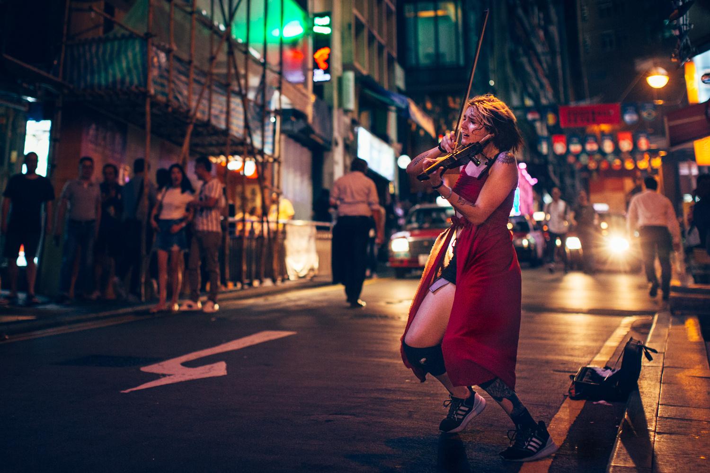 The Violinist. Hing Kong, 2018 by Marina Khaustova