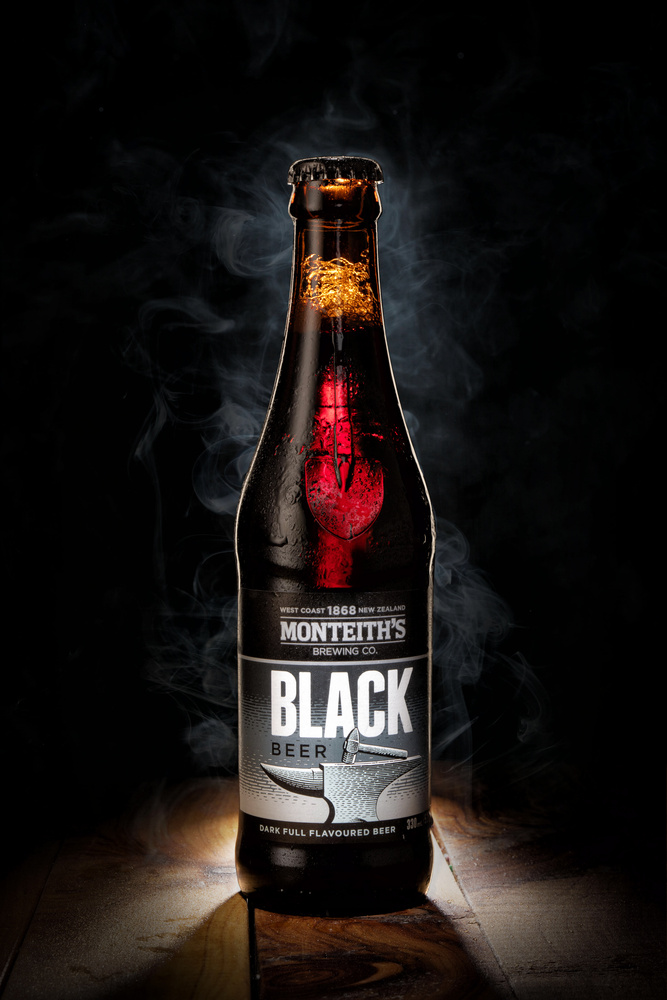 Monteith's Black Product Shot by Ned Perkins