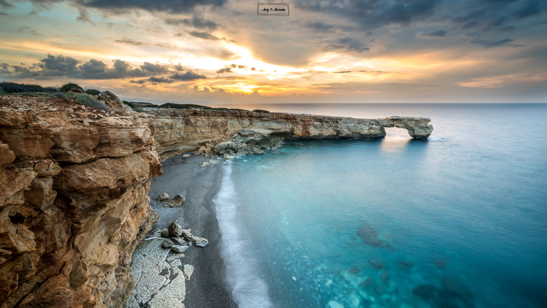 Greek coast at sunset by Ghita Alexandru
