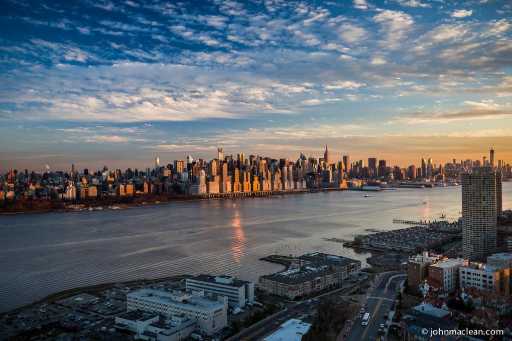NYC from Penthouse in N. Bergen, NJ by John MacLean