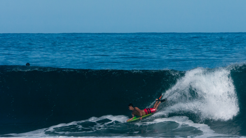 Waipio body surfer by Rameses Mendoza
