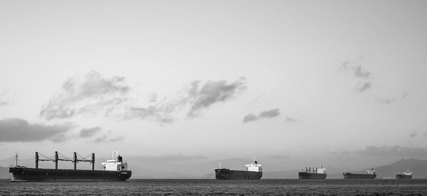 Ships in a line by Ryan McQuillan