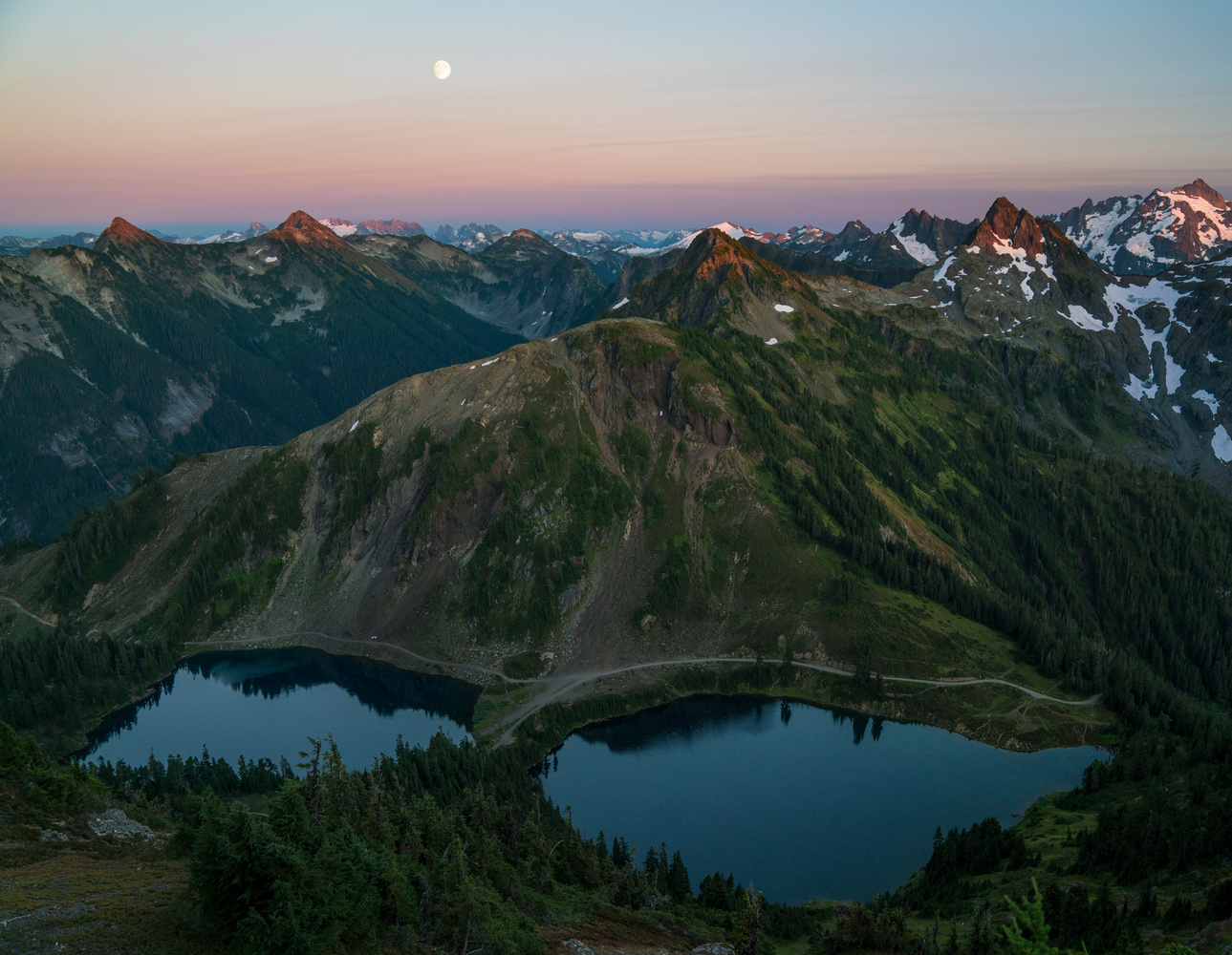Twin Lakes Under the Moon by Autumn Schrock
