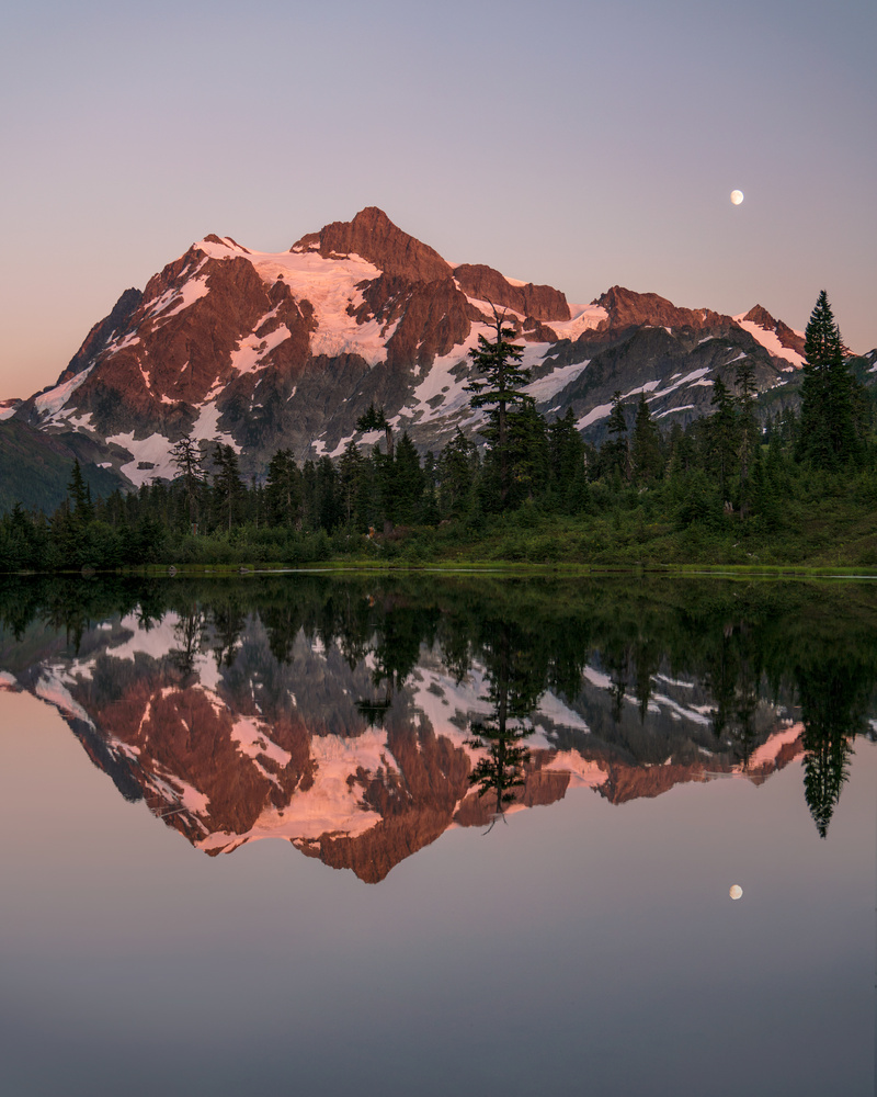 Picture Lake Under the Moon by Autumn Schrock