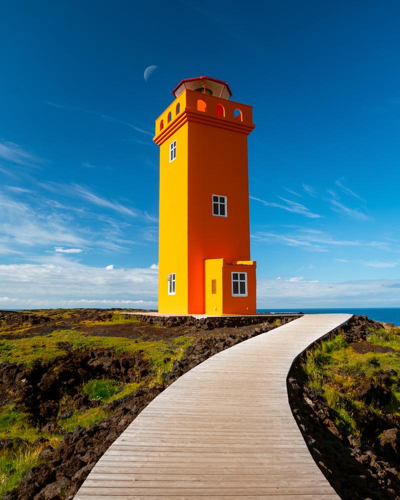 Lighthouse Under the Moon by Autumn Schrock