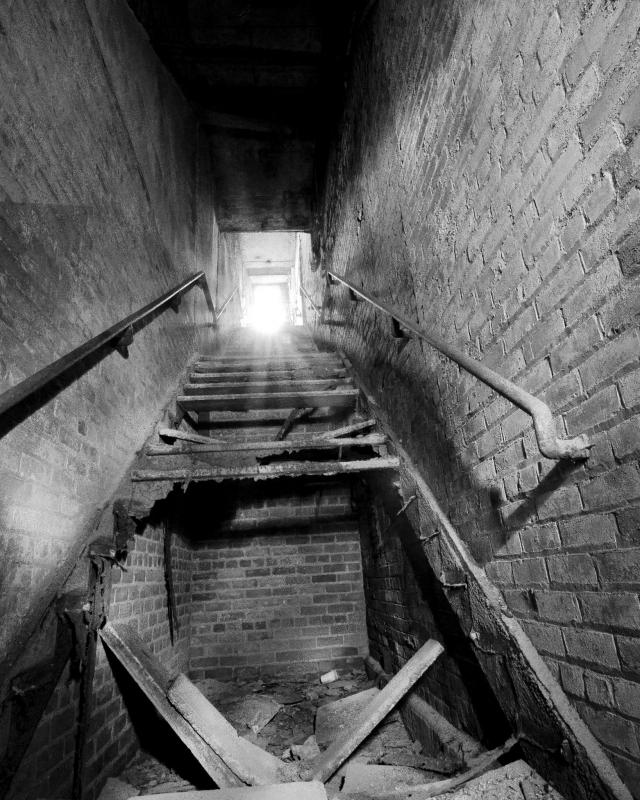 Up the stairs  by Tony Barchock