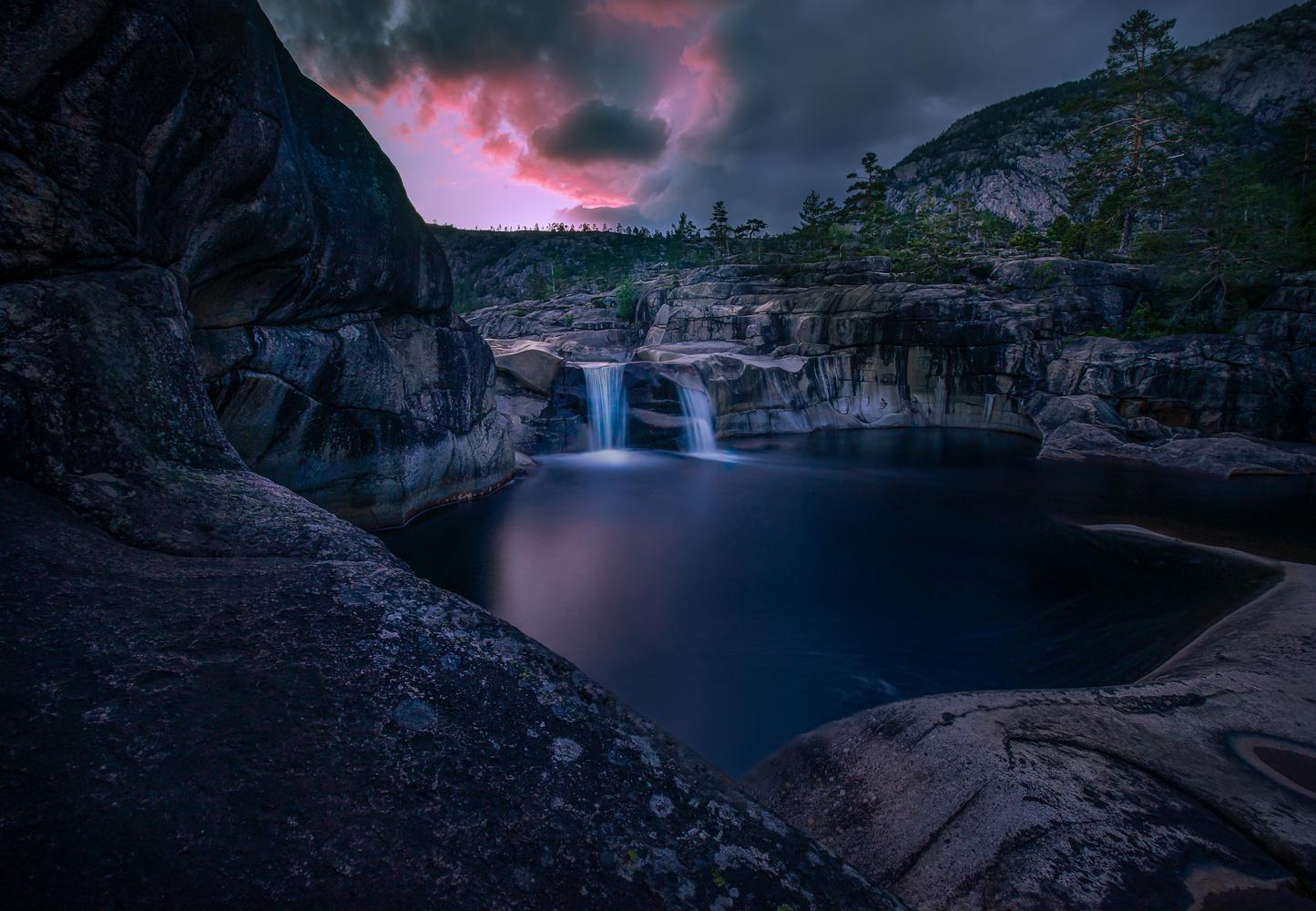 Sunset in Telemark, Norway by Roger Kristiansen