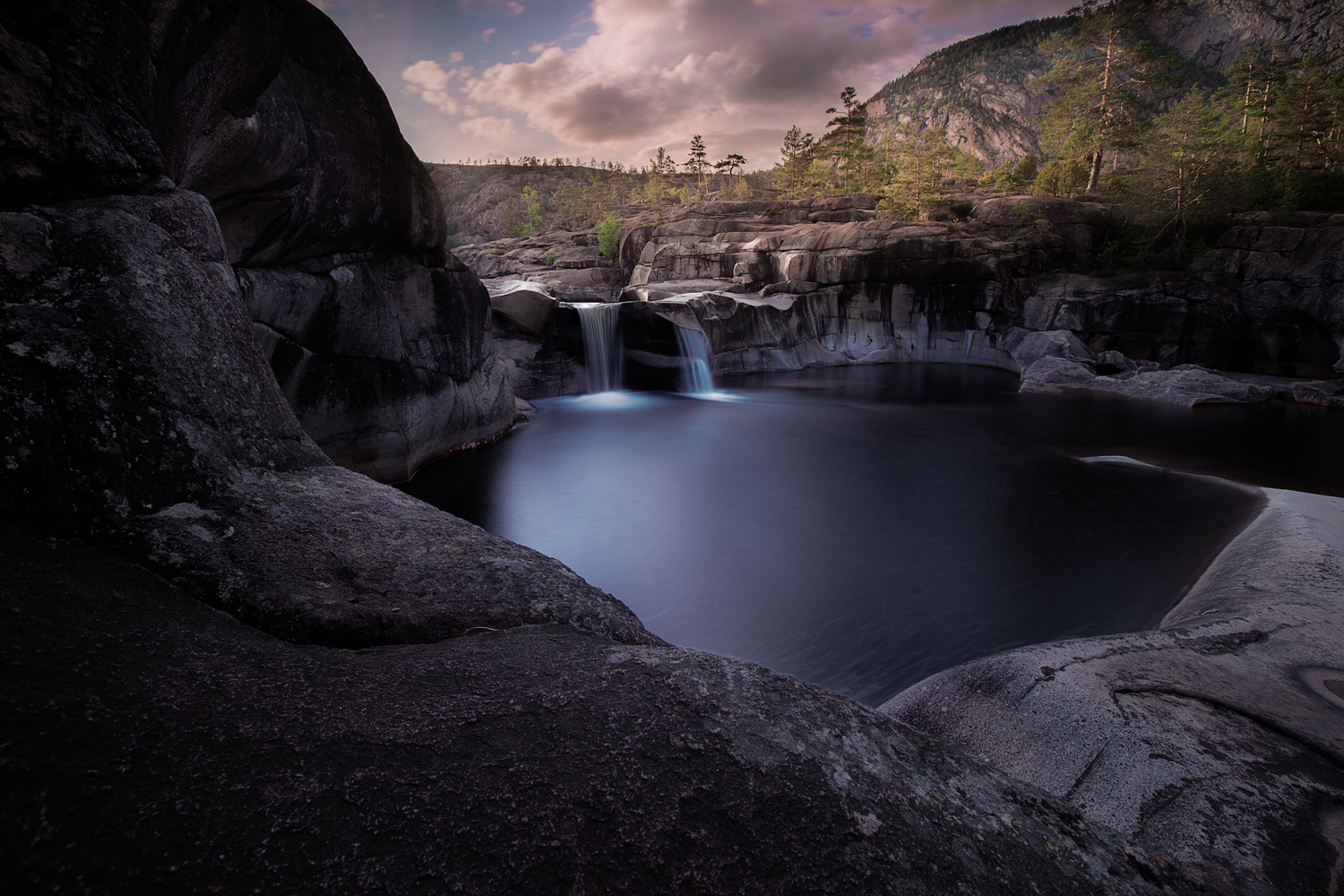 The potholes in Telemark, Norway by Roger Kristiansen