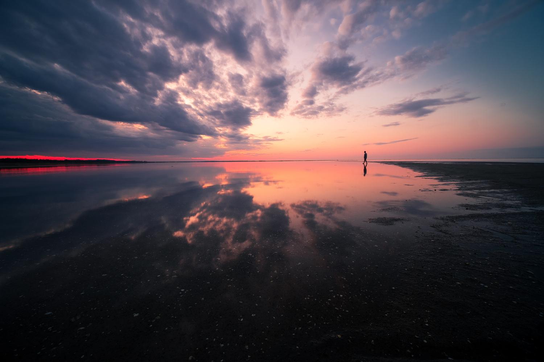 Sunset reflection by Roger Kristiansen